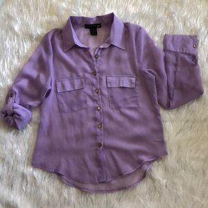 Living Doll lilac sheer blouse